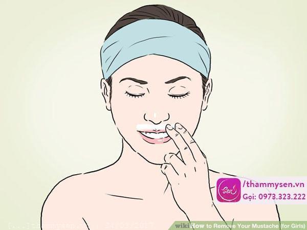 Tẩy ria mép hiệu quả tại nhà