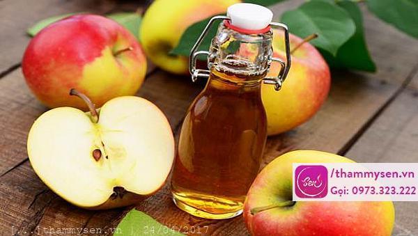 Làm trắng da bằng dấm táo