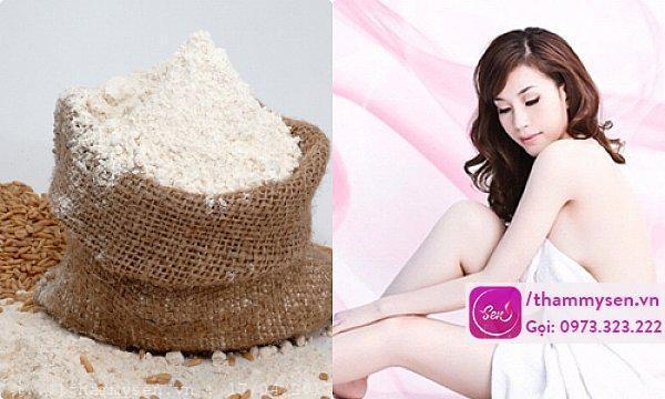 Tắm trắng toàn thân tại nhà bằng cám gạo