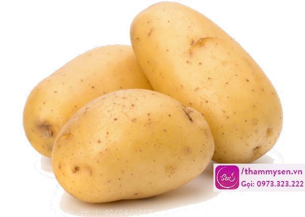 Trị mụn bằng khoai tây hiệu quả tại nhà