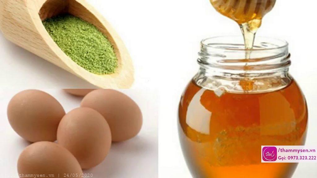 Tắm trắng tại nhà bằng trứng gà, mật ong và trà xanh