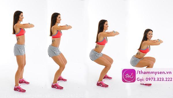 tập squat cũng là phương pháp giảm cân vô cùng hiệu quả