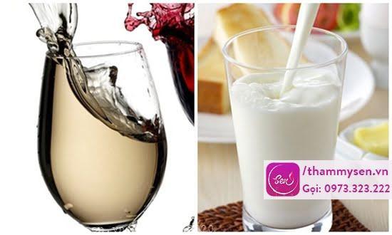 Tắm trắng tại nhà bằng rượu và sữa tươi không đường