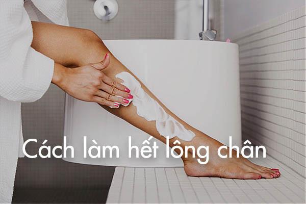 Cách làm hết lông chân