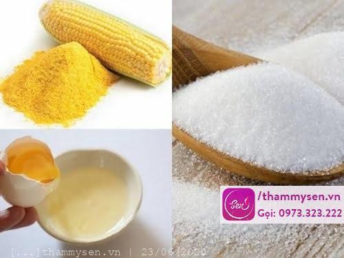 Tẩy ria mép bằng bột ngô với đường