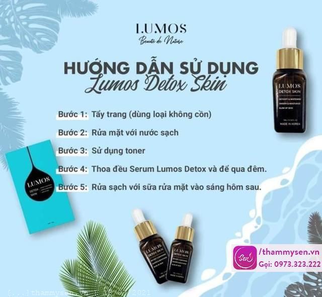 lumos detox skin, Lumos detox skin serum làm sáng, detox da có thực sự tốt như lời đồn?