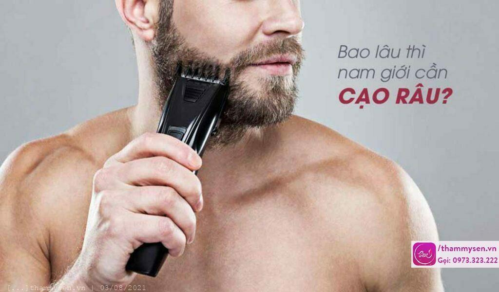 Bao lâu thì nam giới cần cạo râu